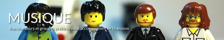 Tableaux LEGO musique, musiciens, beattles, david bowie