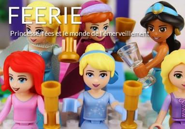 Tableaux LEGO princesses et fées, féerie, disney